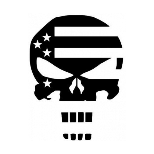 Punisher Skull Flag Decal