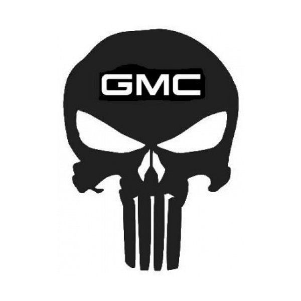 Punisher Gmc Skull Decal