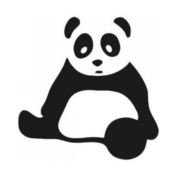 Sitting Panda Decal