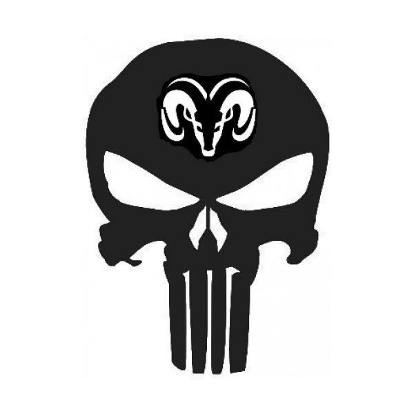 Punisher Skull Ram Emblem Decal