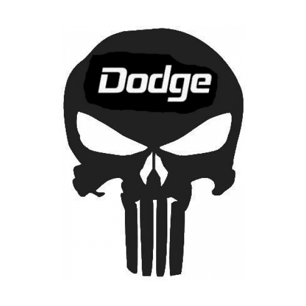 Punisher Skull Dodge Emblem Decal