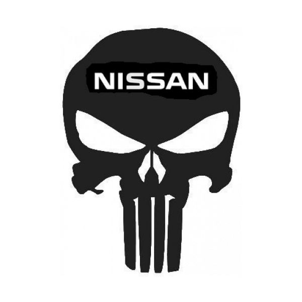 Punisher Skull Nissan Emblem Decal