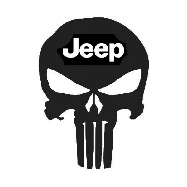 Punisher Skull Jeep Emblem Decal