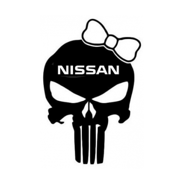 Punisher Skull Nissan Girl Emblem