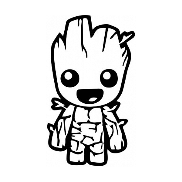 Baby Groot Guardians Of The Galaxy Decal