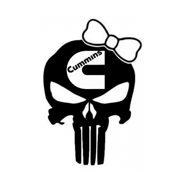 Punisher Skull Cummins Girl Decal