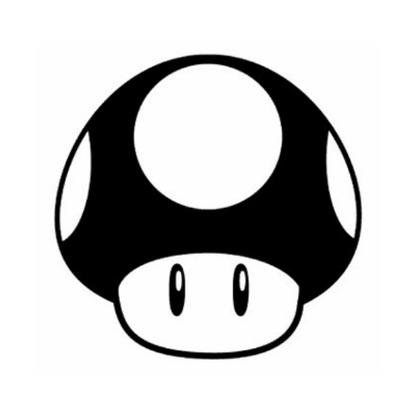 Super Mario Bros Mushroom Decal