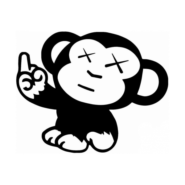 Naughty Monkey Flipping The Bird Decal