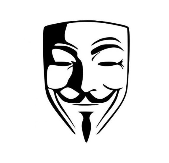 Anonymous Guy Fawkes Mask V for Vendetta Decal Sticker