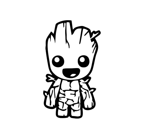 Baby Groot Guardians of the Galaxy Vinyl Decal Sticker