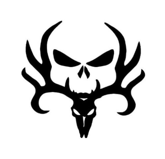 Skull and Deer Mixed Browning Punisher Decal Sticker